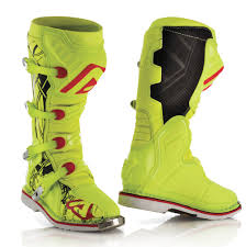 green motocross boots acerbis x pro v off road boots fluo yellow black
