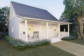 How To Build A Cottage House by Metal Building Cottage House For Comfy Living Free Blueprint