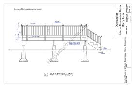 Blueprints Of Homes Free 12 U0027 X 16 U0027 Deck Plan Blueprint With Pdf Document Download