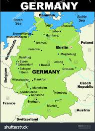 Detailed Map Of Germany by Vector Map Germany Stock Vector 104136344 Shutterstock