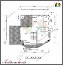 architecture kerala 1800 sq ft house plan with detail dimensions