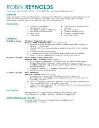 Resume Sample For Ojt Pdf by Best Hvac And Refrigeration Resume Example Livecareer