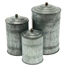 3128 galvanized metal canisters set of 3