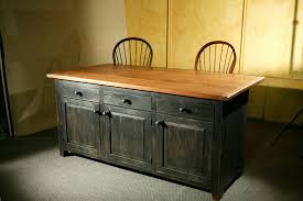 Distressed Black Kitchen Island by Hand Crafted Rustic Barn Wood Kitchen Island By Ecustomfinishes
