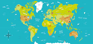 Kids World Map Illustrated World Map Tom Woolley Illustration U2013 Illustrated