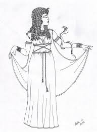 cleopatra coloring pages deviantart more like queen tiye by