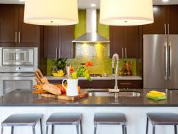 Glass Kitchen Backsplash Design Wonderful Green Glass Kitchen Backsplash Varished Wooden