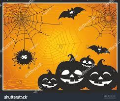 halloween cute background fun cute cartoon halloween post card stock vector 474810421