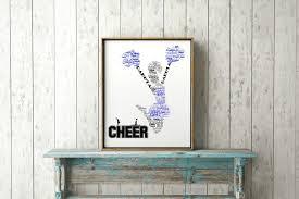 personalized cheerleader gift name print custom word art