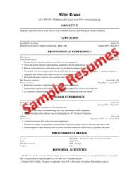 Resume For College Student Sample by Engineering Student Sample Resume Gallery Creawizard Com