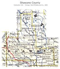 Wisconsin Map With Counties by Shawano County Maps And Gazetteers