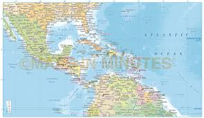 Centro America Map by Political Map Of Central America And The Caribbean Nations Map Of