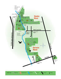 Illinois Prairie Path Map by Skokie River Nature Preserve Lake Forest Open Lands