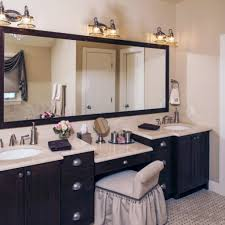 cool bathroom vanity with makeup station verambelles