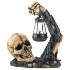 illuminated halloween decorations amazon com gifts u0026 decor sinister skull with lantern halloween