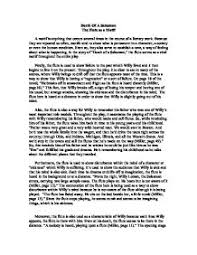 death of a salesman essay questions Responsibility Essays