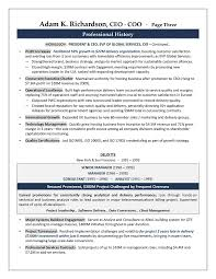 Profile Section Of Resume Examples by Ceo Resume Examples Ceo Cfo Executive Resume Example 266 Best