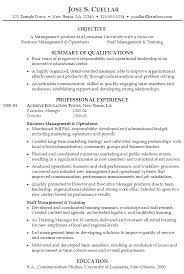 Summary Of Qualifications Sample Resume by Resume For Operations And Staff Management Susan Ireland Resumes