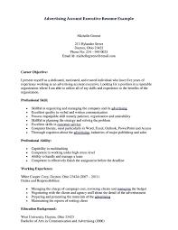 Job Resume  Advertising Account Executive Resume Samples Account Account Executive Resume Format Advertising Account Executive