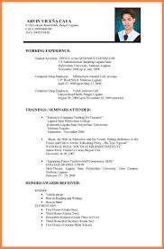 Resume Sample Format For Seaman by Resume For University Application Sample Free Resume Example And