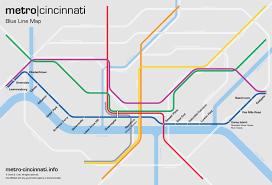 Metro Lines Map by Metro Cincinnati Blue Line