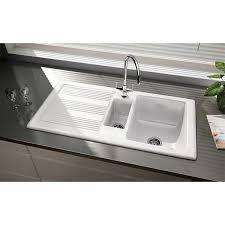 Rangemaster Portland Kitchen Sink CPLWH  Bowl White - Ceramic white kitchen sink