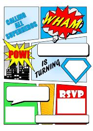 Free Printable Birthday Invitation Cards With Photo Superhero Comic Book Party Invitation With Free Printable