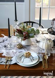 halloween table cloth haunted halloween table decor ideas inspired by charm