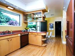 mid century modern kitchen with artistic interior space traba homes