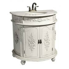 Vanity Units With Drawers For Bathroom antique white shabby chic french bathroom vanity unit sink drawers