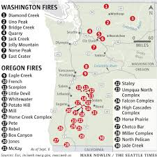 Wild Fires In Oregon Update by Here Are The Largest Wildfires In Washington State Oregon The