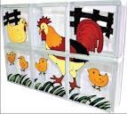 บล็อคแก้วครอบครัวไก่ (Chicken Family) #4331221