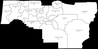 Springfield Oregon Map by Lane County Districts