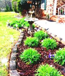 plain flower garden ideas in front of house to create a low
