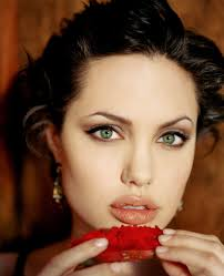 short hair angelina jolie red