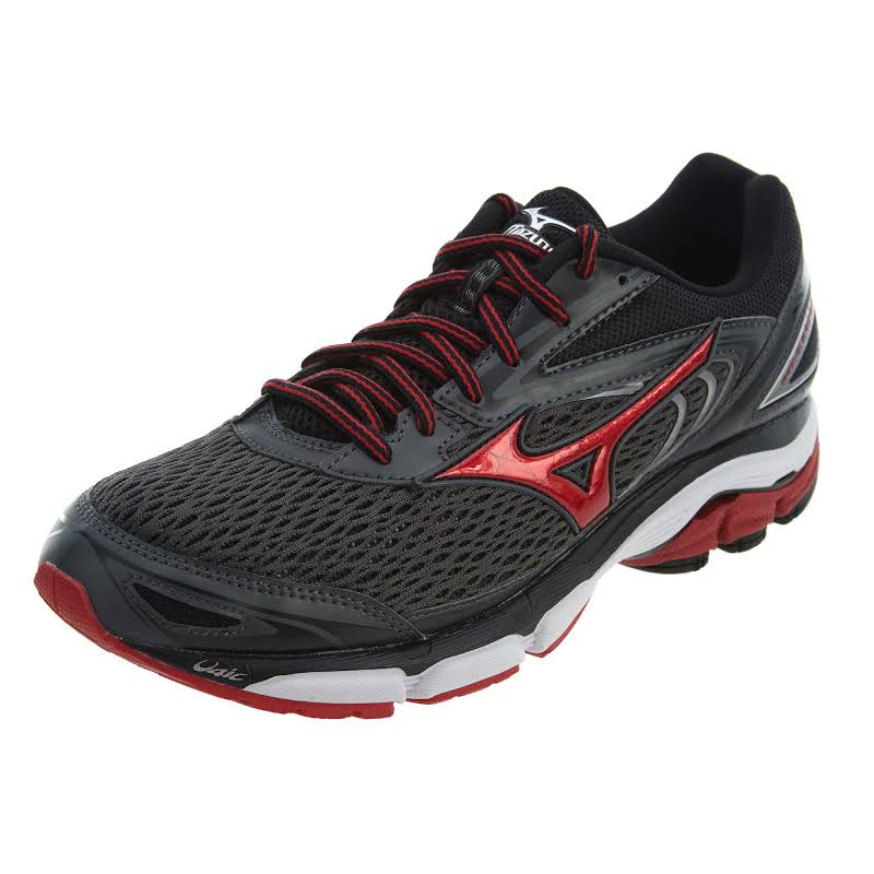 Mizuno Wave Inspire 13 Grey / Red Black Ankle-High Sneaker 7.5M
