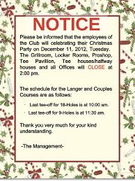 28 christmas party memo holiday memo to employees just b cause