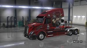american volvo trucks volvo vnl 670 big mama tattoo skins american truck simulator mod