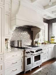 Cream Subway Tile Backsplash by Cream Kitchen Hood Design Ideas