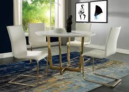 maxim white marble dining table from tov coleman furniture