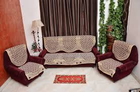 Sofa Slipcovers India buy rshp 5 seater maroon coffee cotton sofa cover online at low