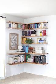 White Short Bookcase by Build U0026 Organize A Corner Shelving System Corner Shelving