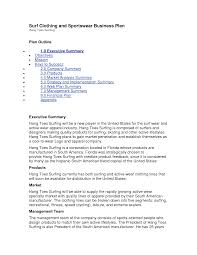 Starting A Business Plan Template Starting A Clothing Line Business Plan