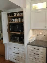 appliance cabinet great to hide microwave toaster oven coffee