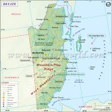 Map Of Western Caribbean by Map Of Belize Belize Map