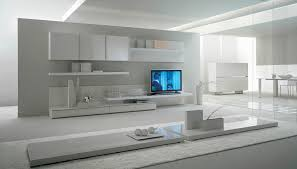 contemporary lacquered wall units with white theme bright find this pin and more living room