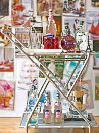 home bar decor ideas how to style the perfect bar cart hgtv