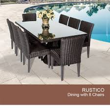 outdoor dining table for 8 wicker patio table set