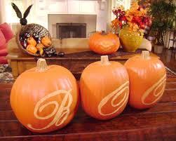 using a pumpkin carving template hgtv