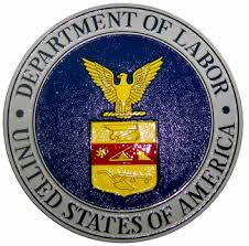 """""""United States of America Department of Labor"""" seal"""